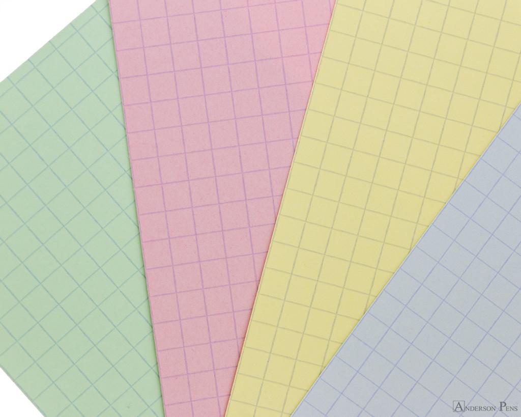 Exacompta Index Cards - 4 x 6, Graph - Assorted Colors color closeup