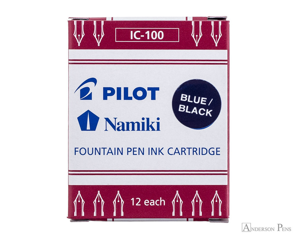 Pilot Namiki Blue-Black Ink Cartridges (12 Pack)