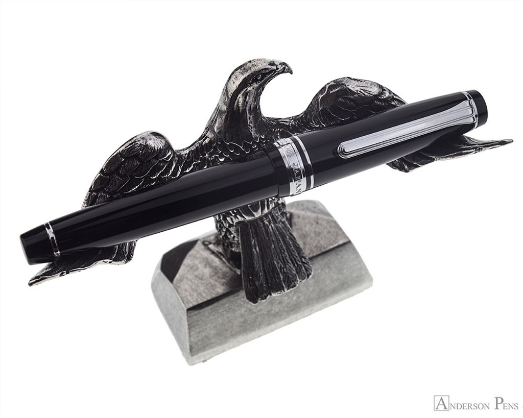 Jac Zagoory Swooping Eagle Pewter Pen Holder