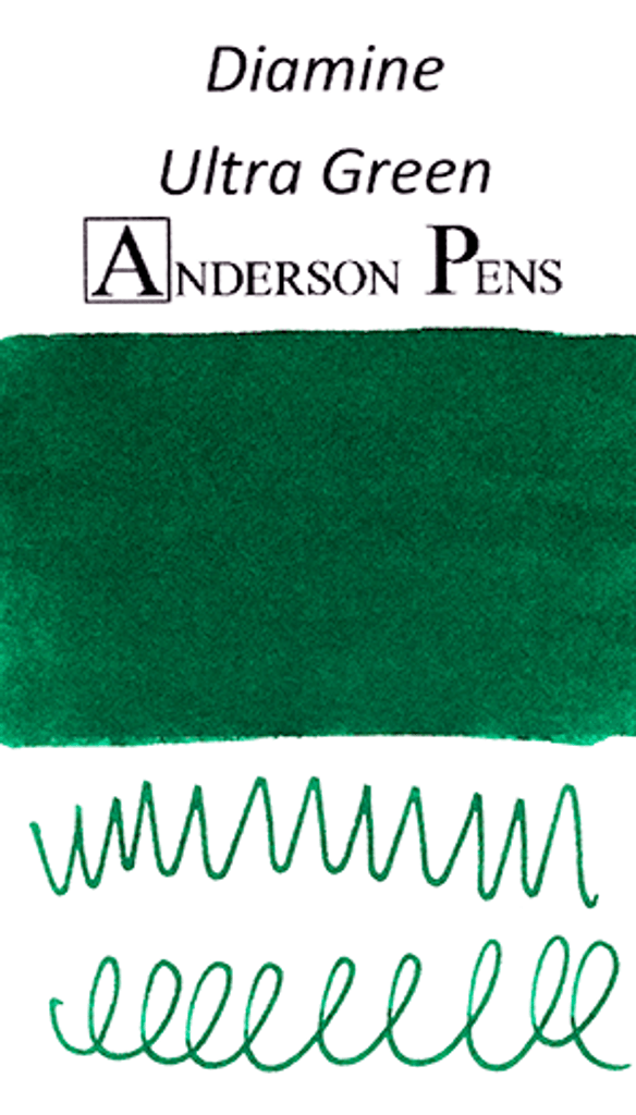 Diamine Ultra Green Ink Color Swab
