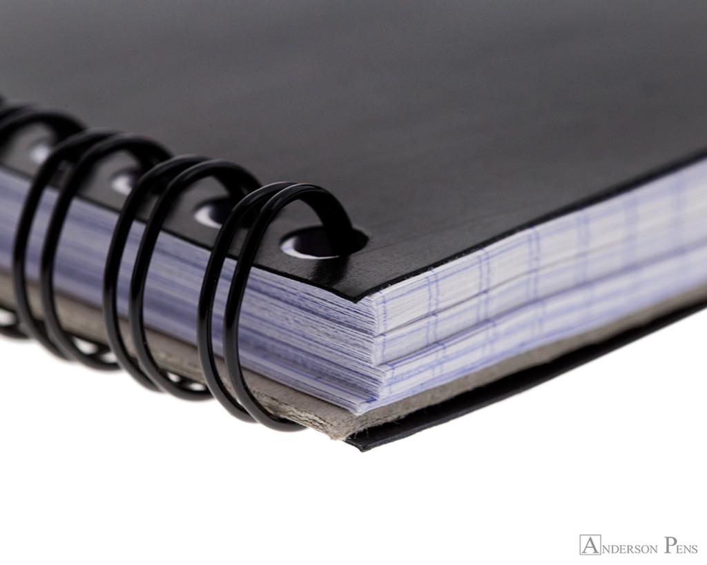 Rhodia No. 13 Wirebound Notebook - A6, Graph - Black coil detail