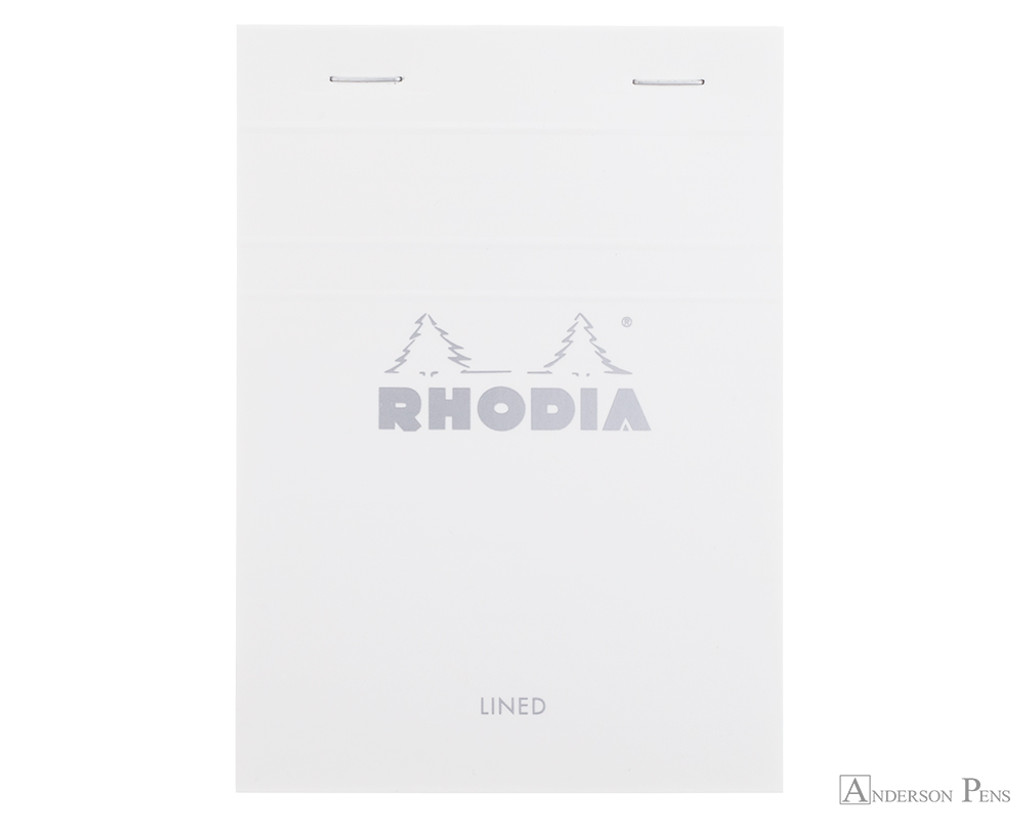 Rhodia No. 13 Staplebound Notepad - A6, Lined - Ice White