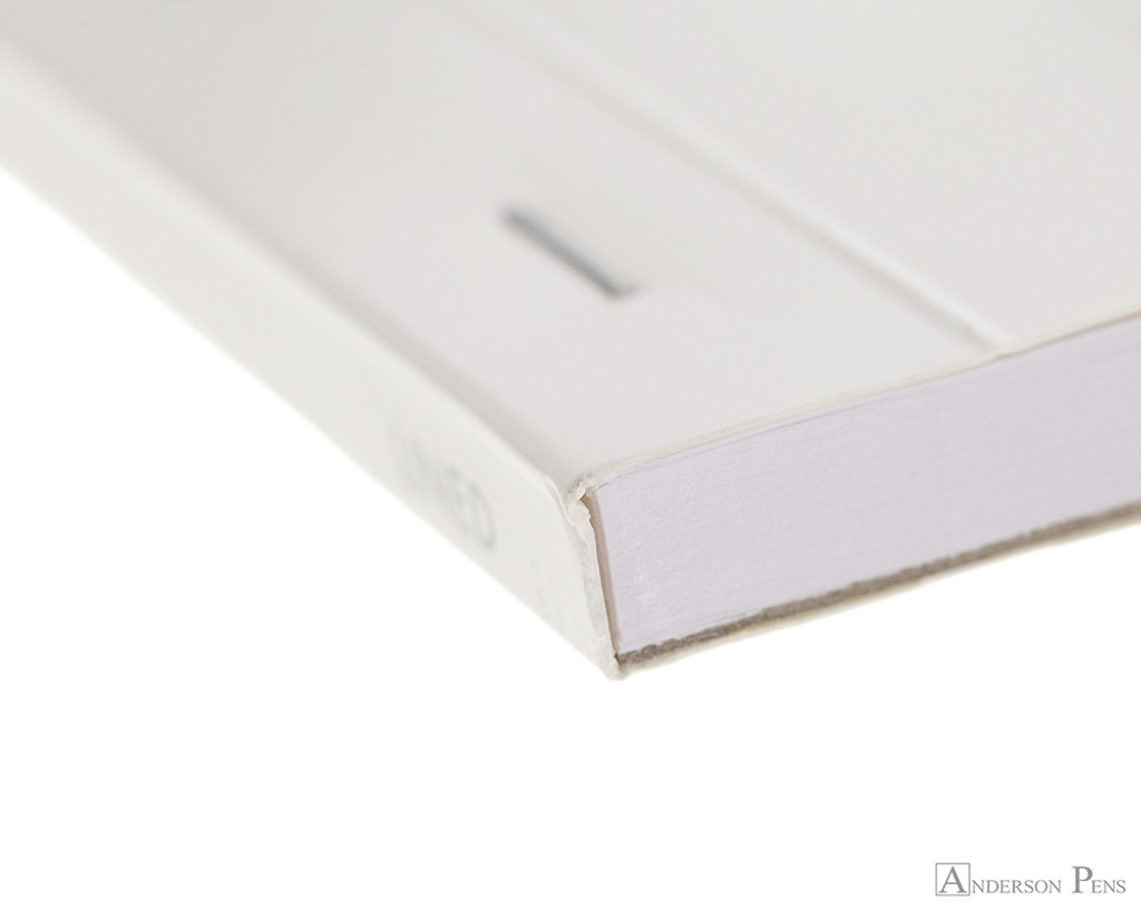 Rhodia No. 13 Staplebound Notepad - A6, Lined - Ice White binding detail