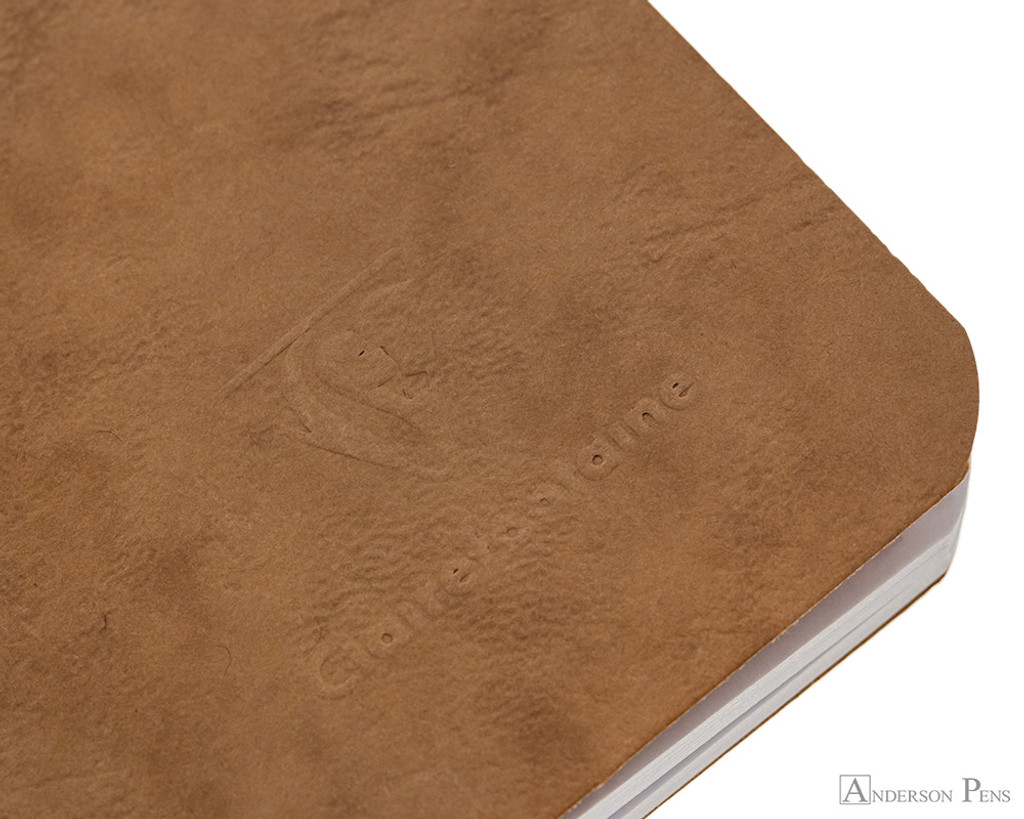 Clairefontaine Basic Staplebound Duo - 3.5 x 5.5, Lined - Black and Tan - Logo