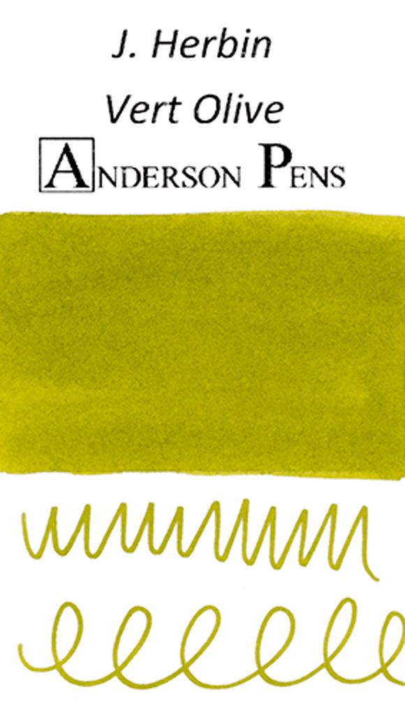 J. Herbin Vert Olive Ink Sample Color Swab