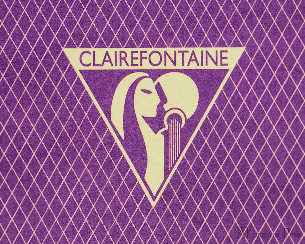 Clairefontaine 1951 Clothbound Notebook - 5.75 x 8.25, Lined - Violet logo