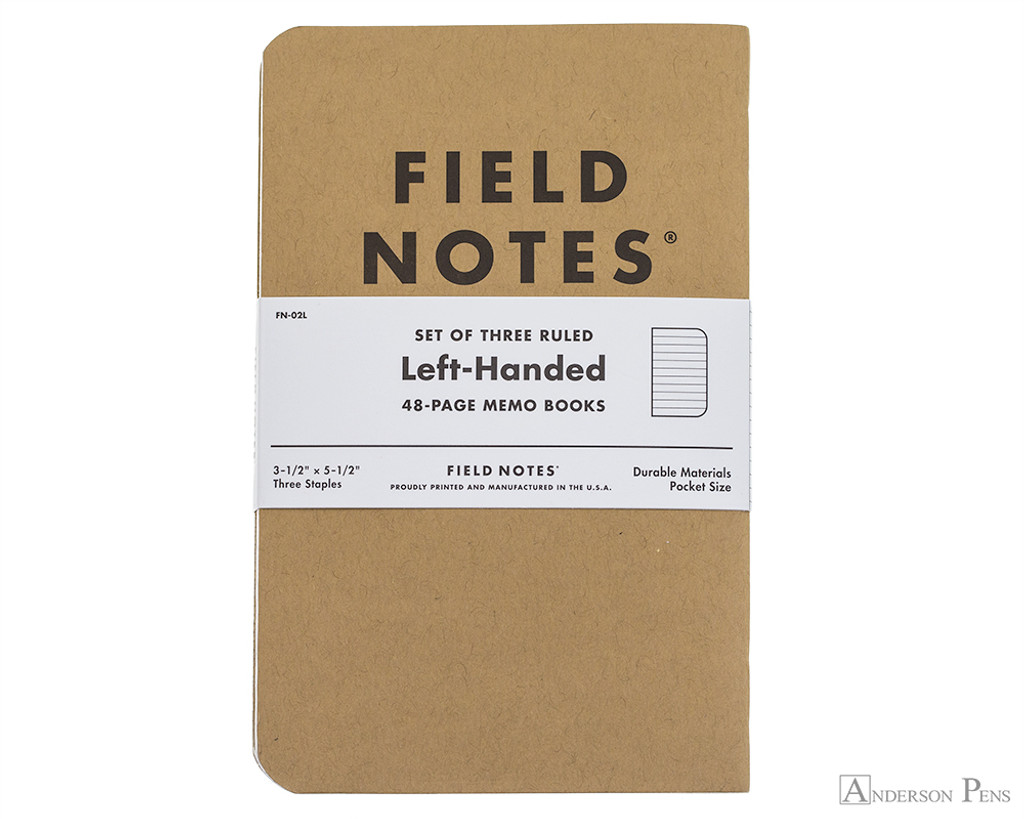 Field Notes Notebooks - Left-Handed, Ruled (3 Pack)
