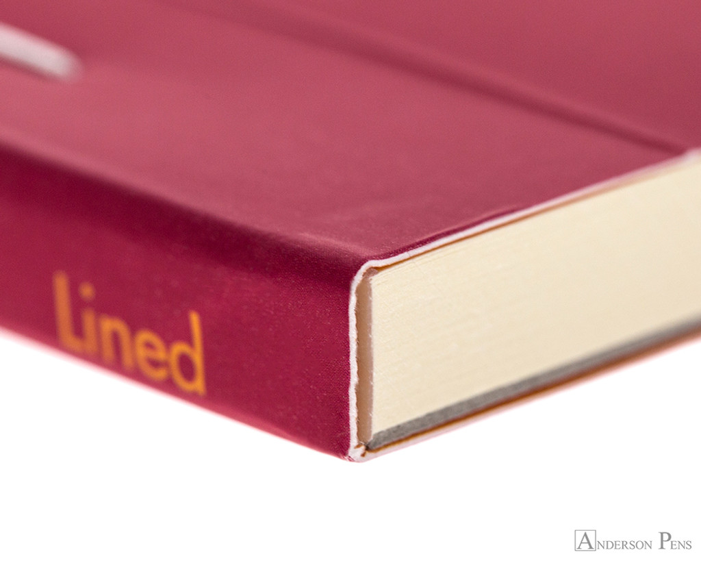 Rhodia No. 16 Premium Notepad - A5, Lined - Raspberry binding detail