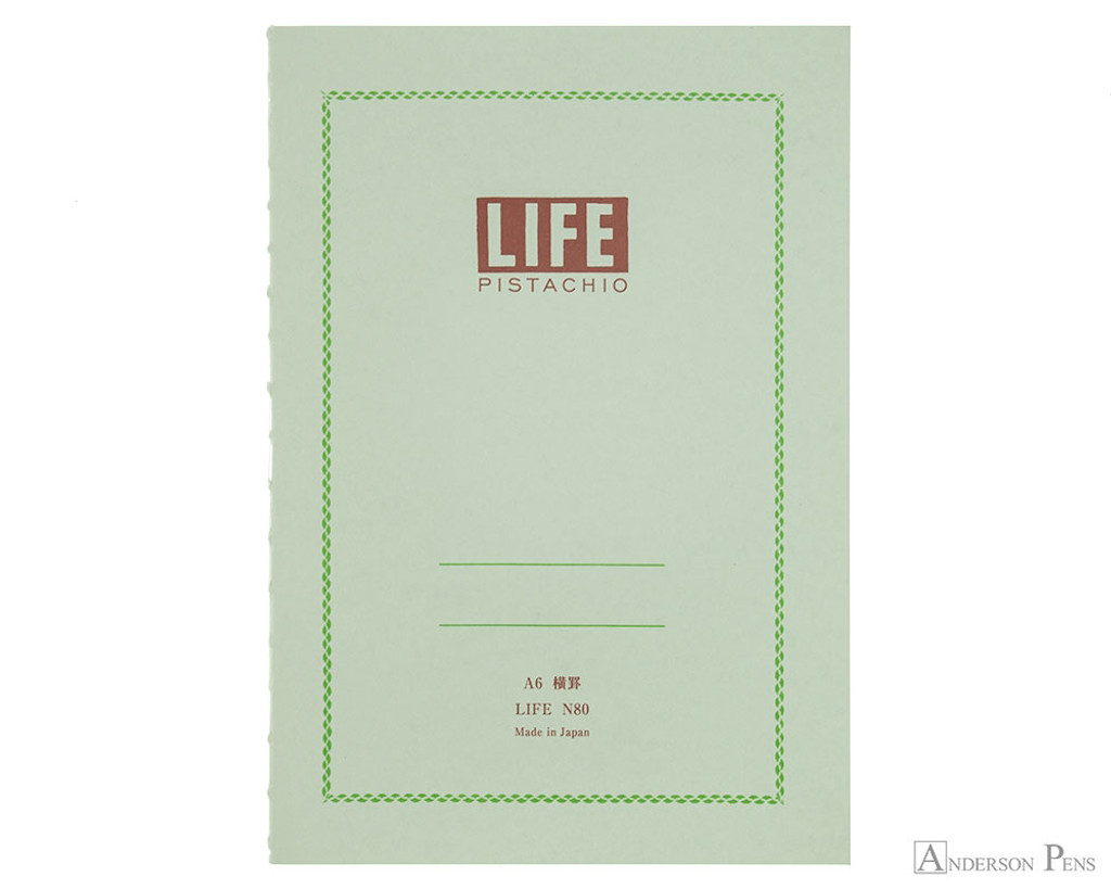 Life Pistachio Notebook - A6 (4 x 6), Lined Paper