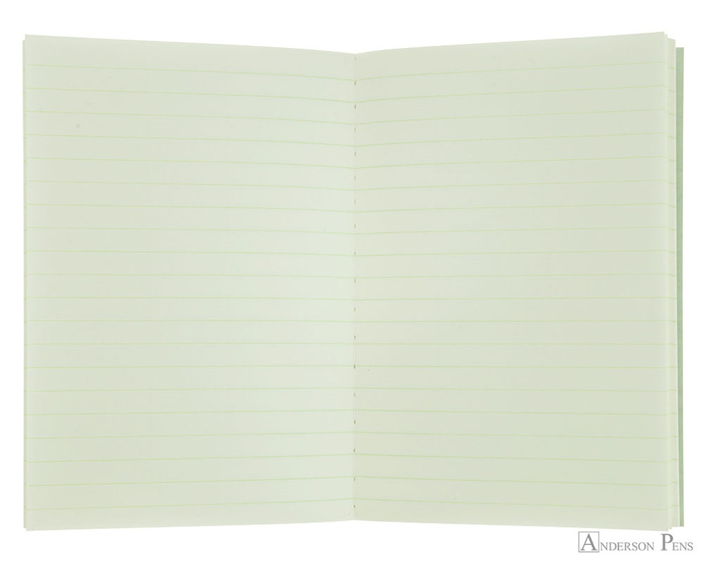 Life Pistachio Notebook - A6 (4 x 6), Lined Paper - open
