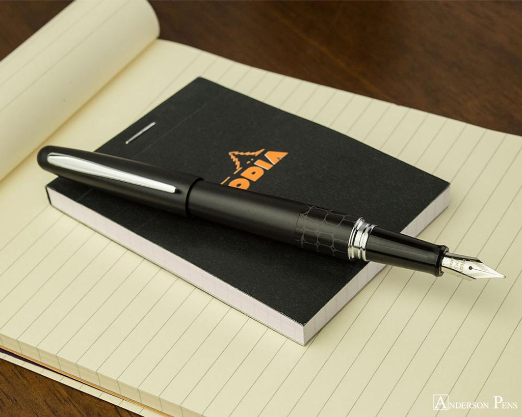 Pilot Metropolitan Fountain Pen - Crocodile - Open on Notebook