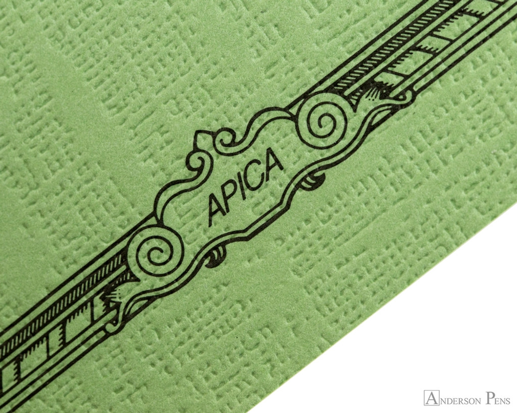 APICA CD11 Notebook - A5, Lined - Green scroll