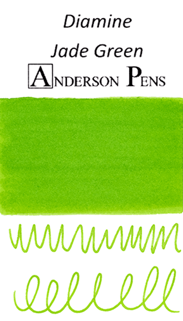 Diamine Jade Green Ink Color Swab