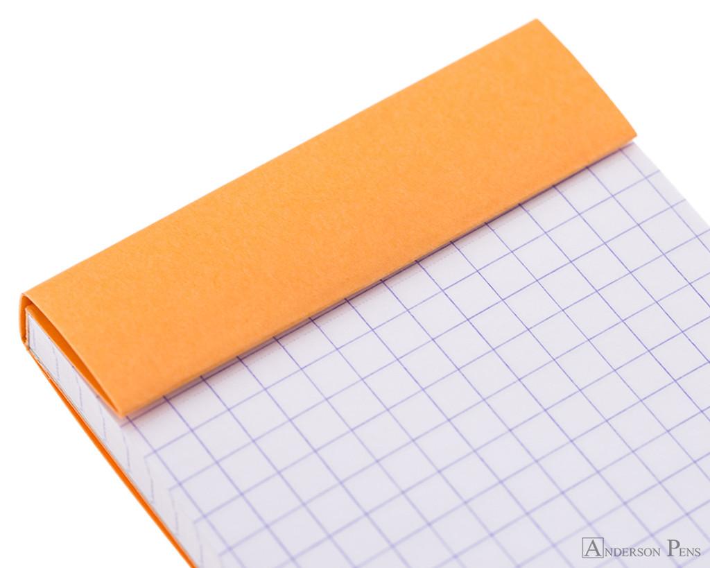 Rhodia No. 8 Notepad - 3 x 8.25, Graph - Orange perforations