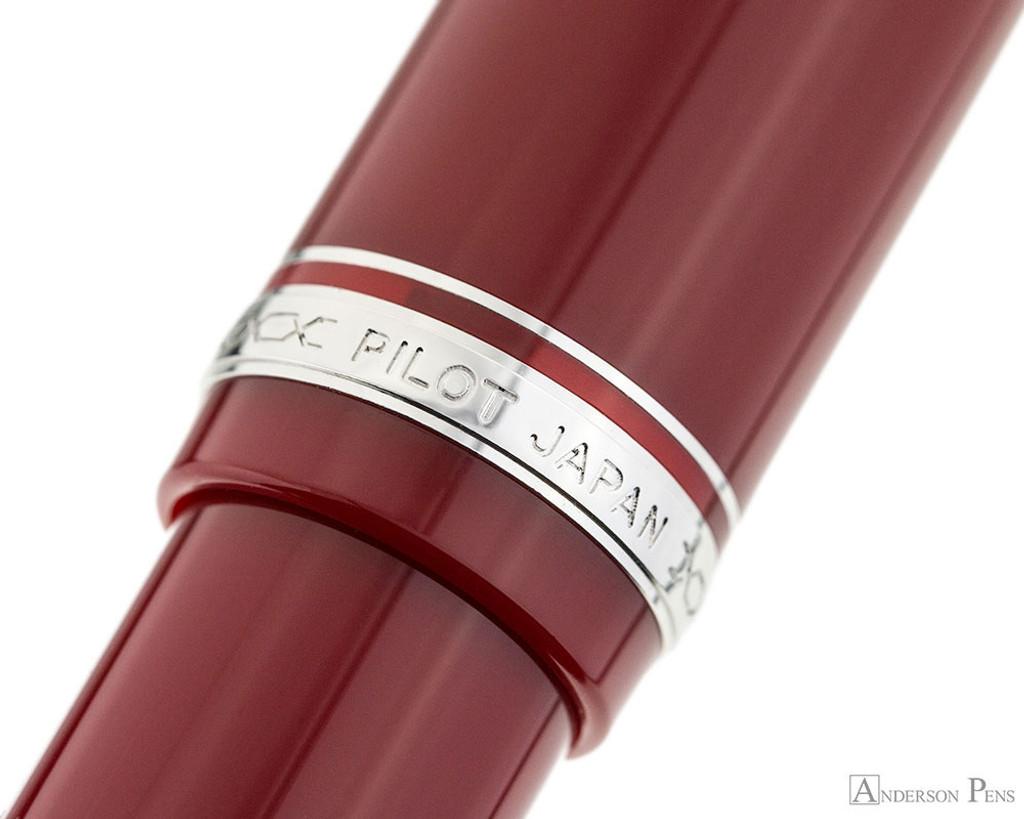 Pilot Falcon Fountain Pen - Red - Cap Band