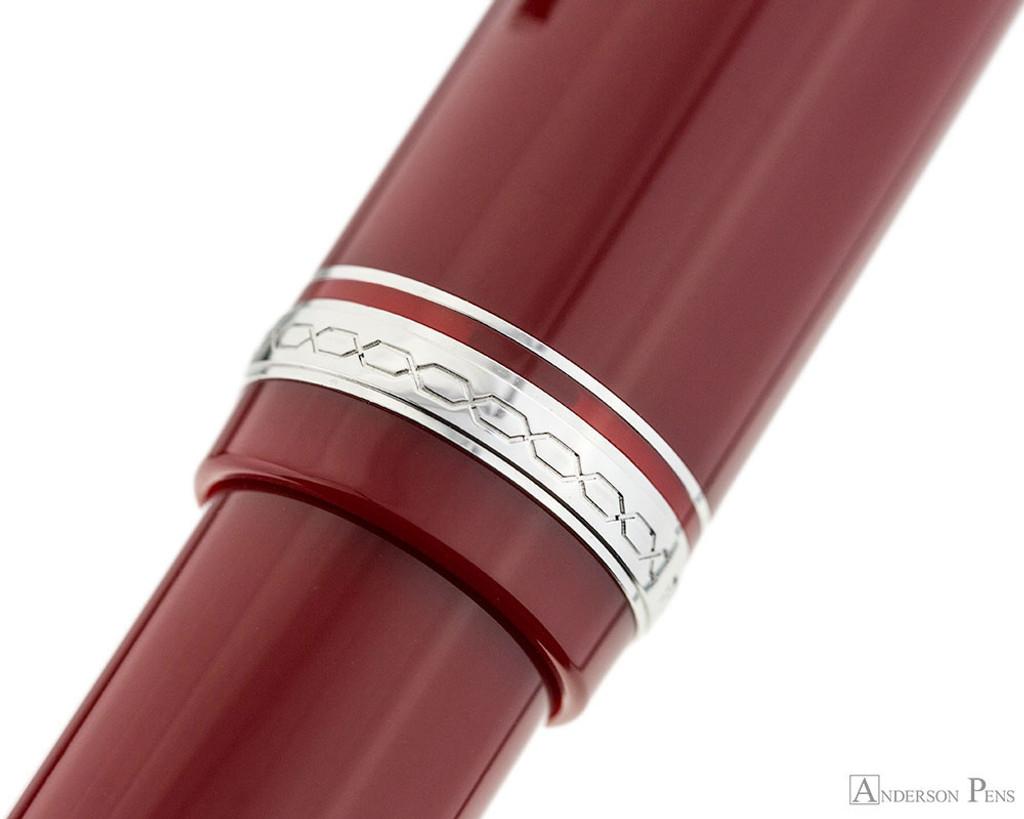 Pilot Falcon Fountain Pen - Red - Cap Band 2