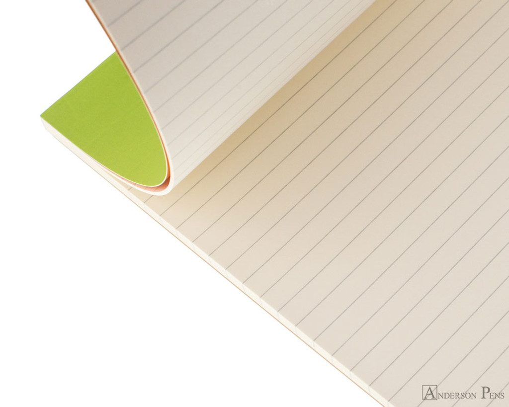 Rhodia No. 18 Premium Notepad - A4, Lined - Anis Green open