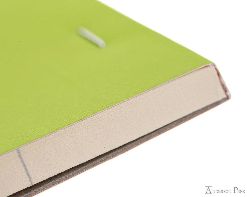 Rhodia No. 18 Premium Notepad - A4, Lined - Anis Green binding detail