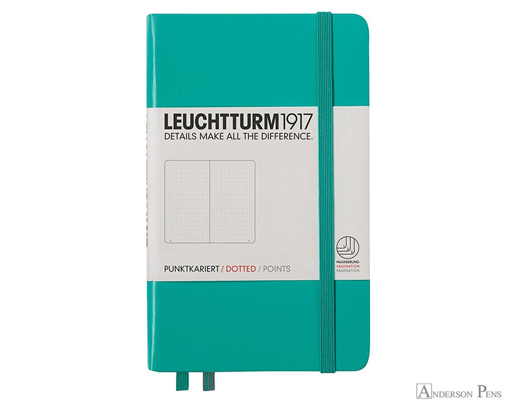 Leuchtturm1917 Notebook - A6, Dot Grid - Emerald