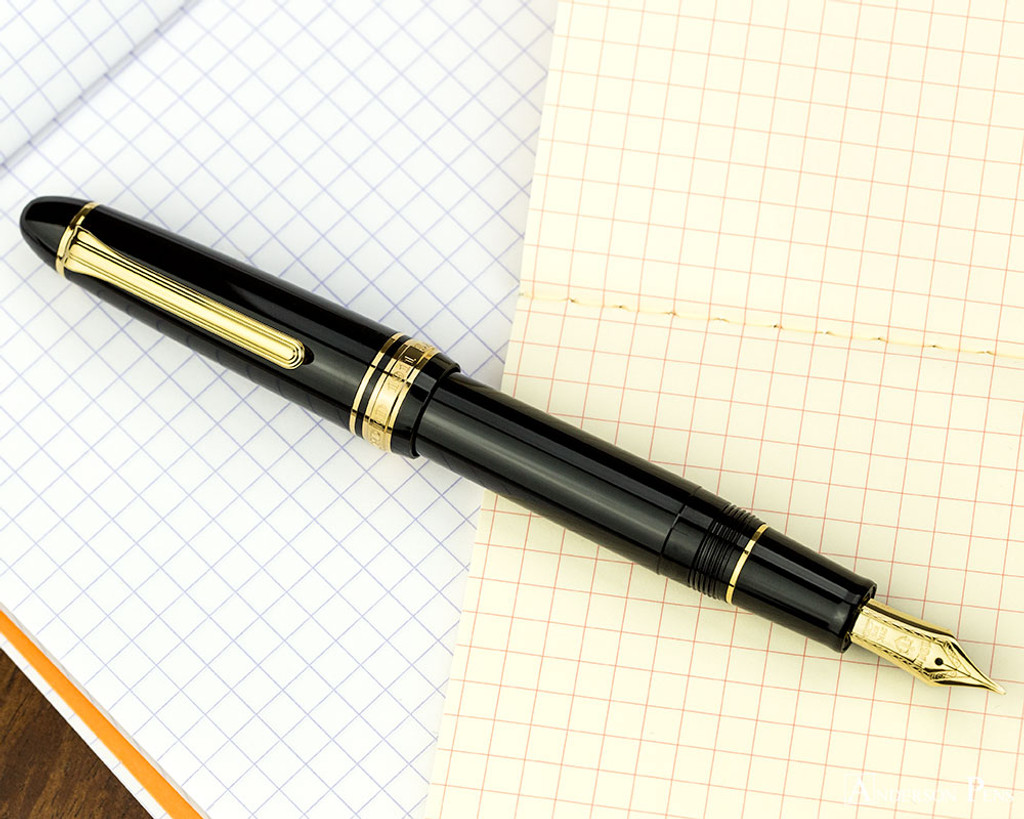 Sailor 1911 Large Fountain Pen - Black with Gold Trim - Posted on Notebook 2