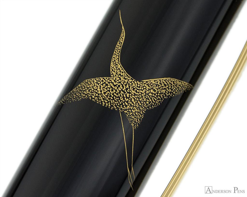 Namiki Chinkin Fountain Pen - Crane - Cap Pattern