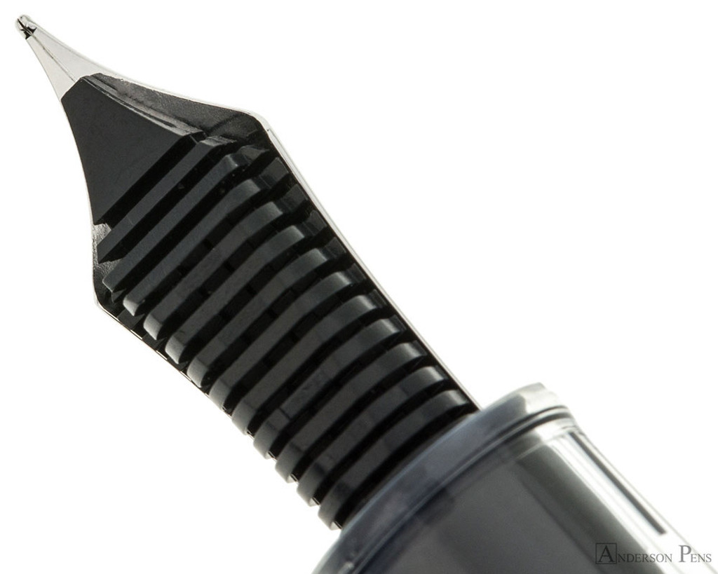 Sailor Professional Gear Slim Fountain Pen - Transparent with Rhodium Trim - Feed
