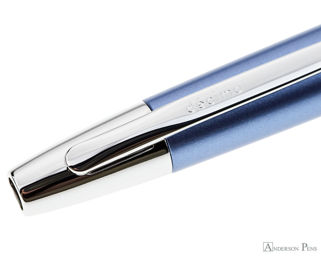 Pilot Vanishing Point Decimo Fountain Pen - Light Blue - Clip