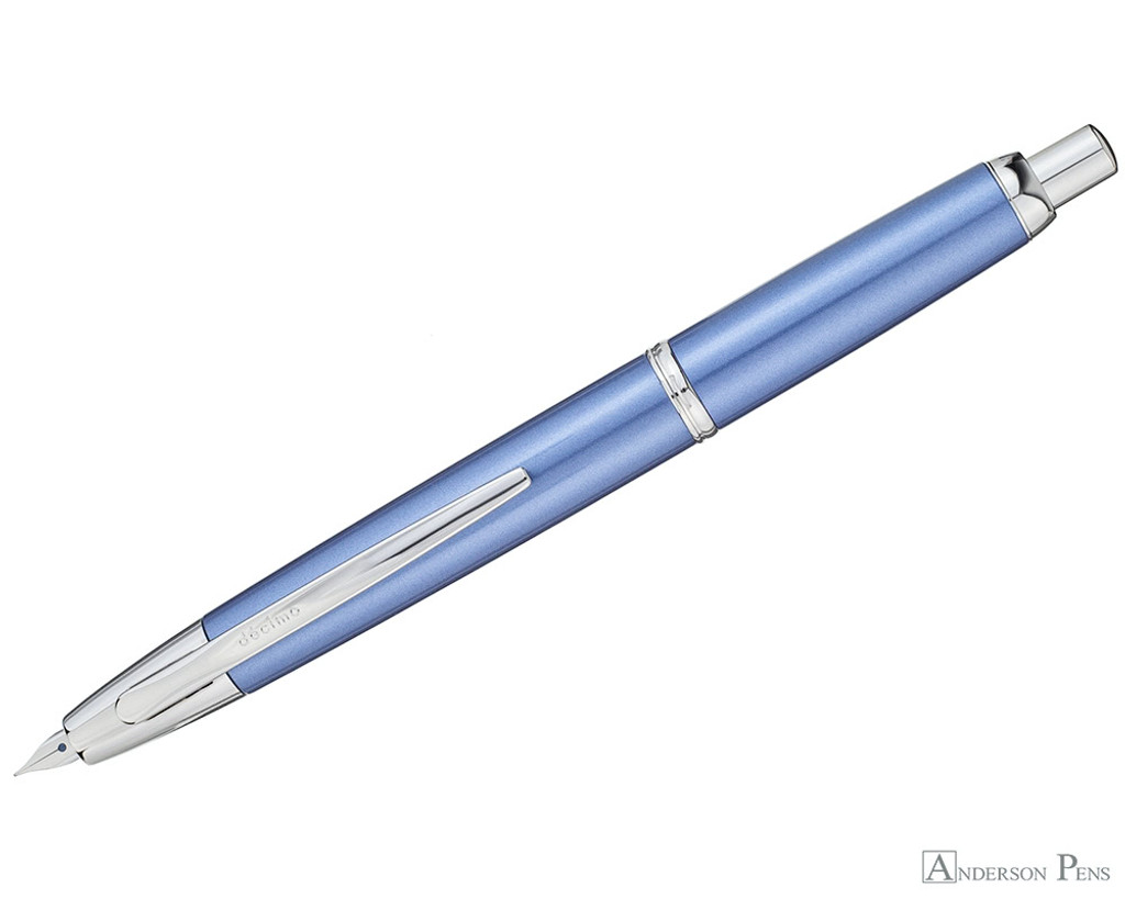 Pilot Vanishing Point Decimo Fountain Pen - Light Blue - Open