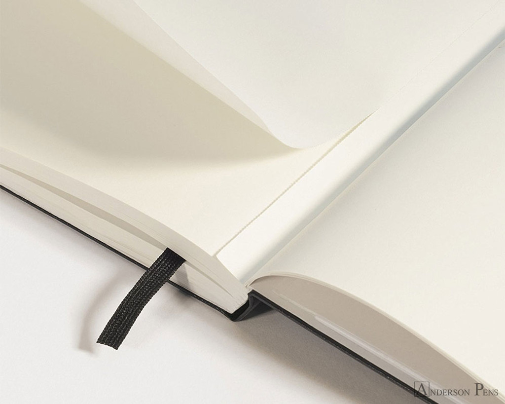 Leuchtturm1917 Notebook - A5, Blank - Black detail