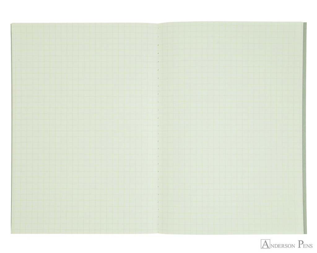 Life Pistachio Notebook - B6 (5 x 7), Graph Paper - Open