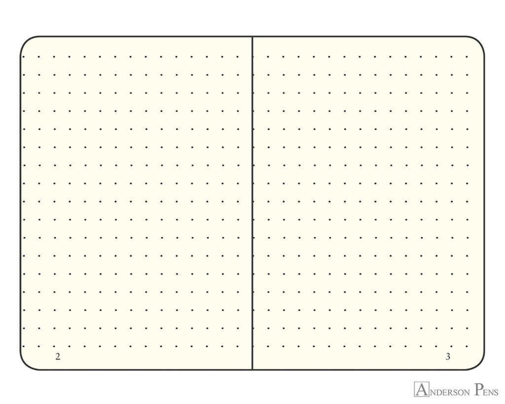Leuchtturm1917 Softcover Notebook - A5, Dot Grid - Black open
