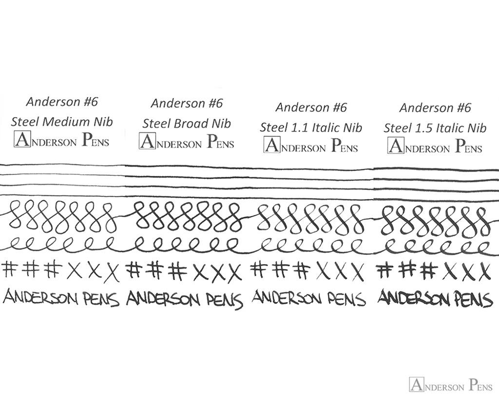 Anderson Pens #6 Steel Nib - Silver, 1.1mm Stub - Nib Card 2