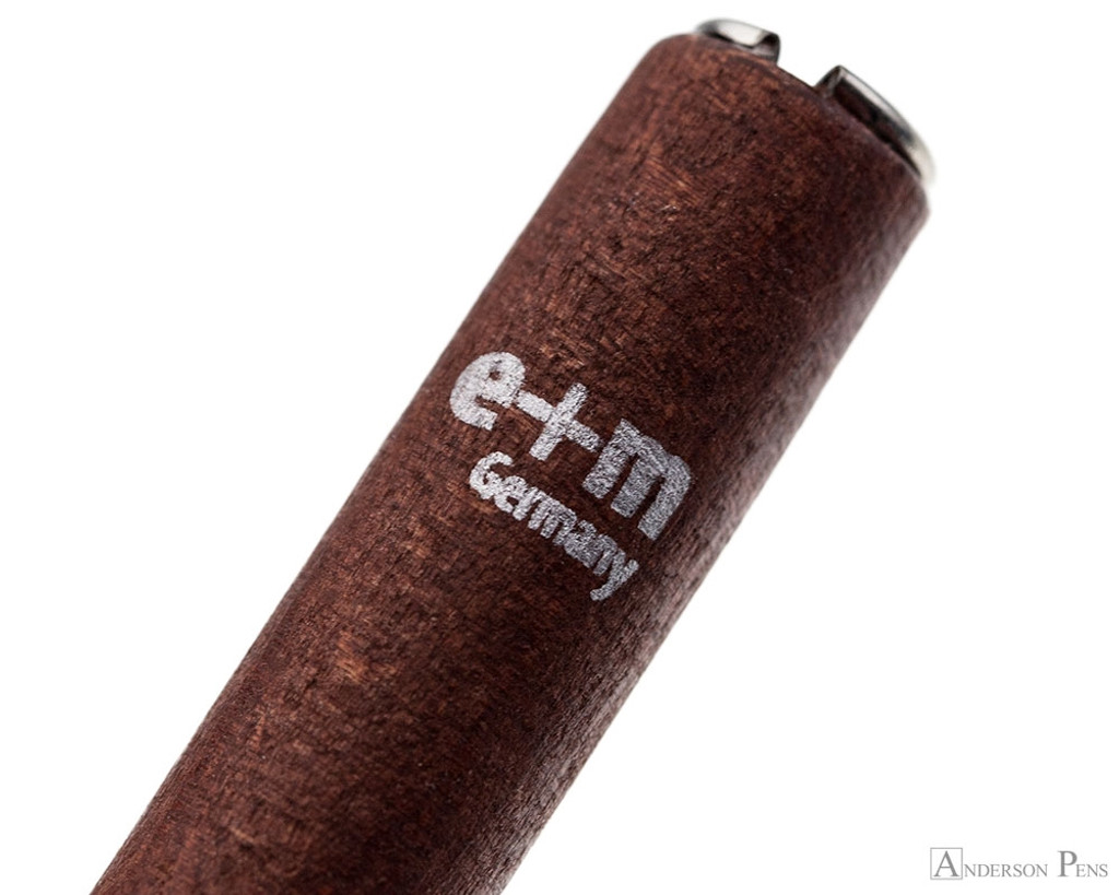 e + m Federhalter Saggitarius Dip Pen - Mahogany - Imprint