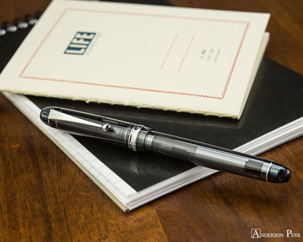 Pilot Custom 74 Fountain Pen - Smoke - On Notebook