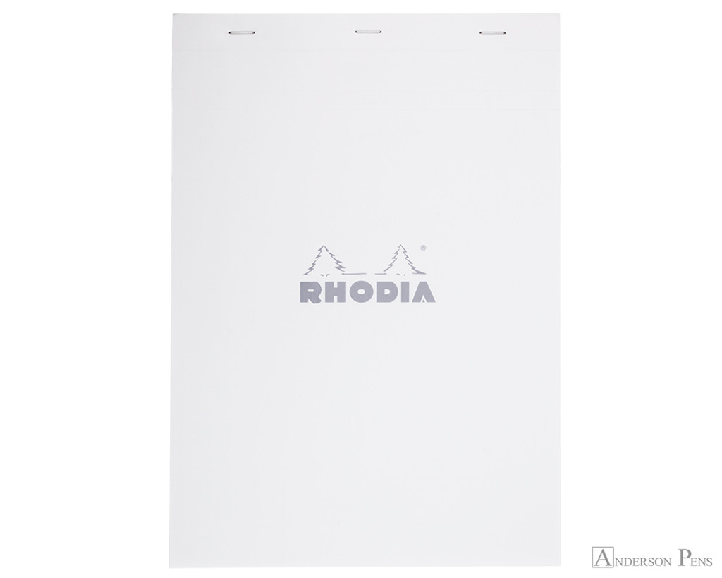 Rhodia No. 18 Staplebound Notepad - A4, Graph - Ice White
