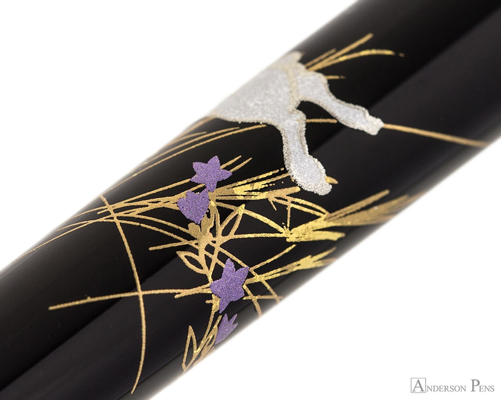 Platinum Classic Maki-e Kanazawa Leaf Fountain Pen - Moon and Rabbit - Pattern 3
