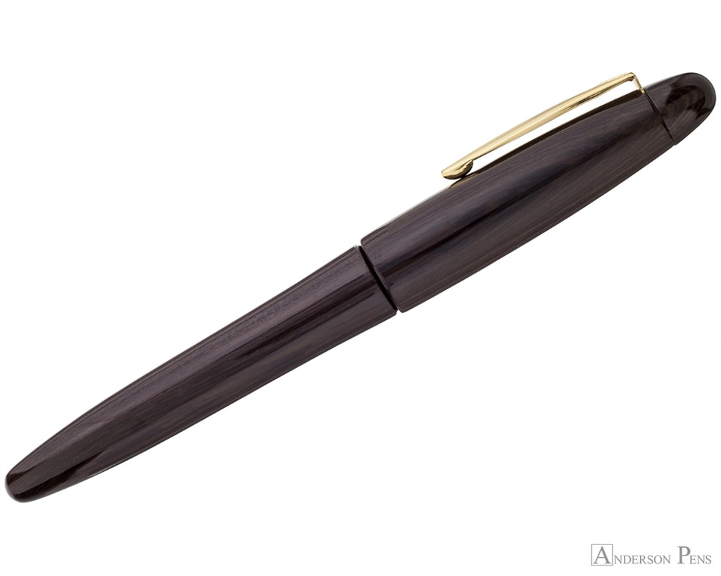 Platinum Izumo Fountain Pen - Bombay Black Wood Tagayasan Gloss - Profile