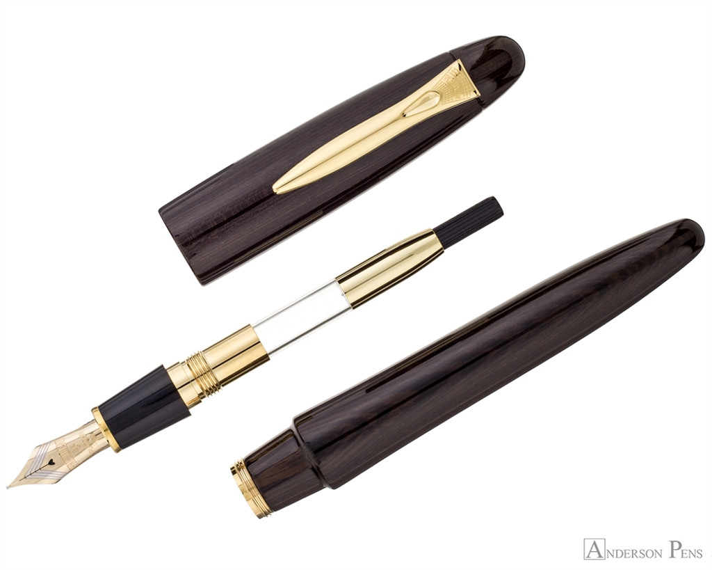Platinum Izumo Fountain Pen - Bombay Black Wood Tagayasan Gloss - Parted Out