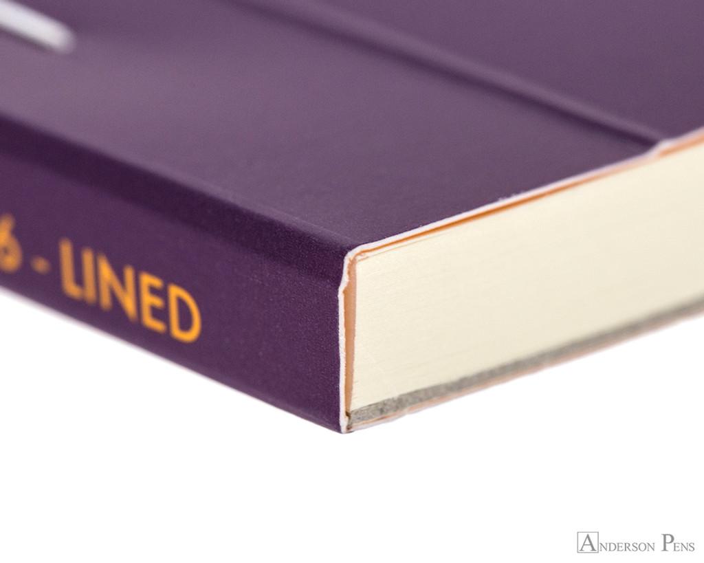 Rhodia No. 16 Premium Notepad - A5, Lined - Purple binding detail