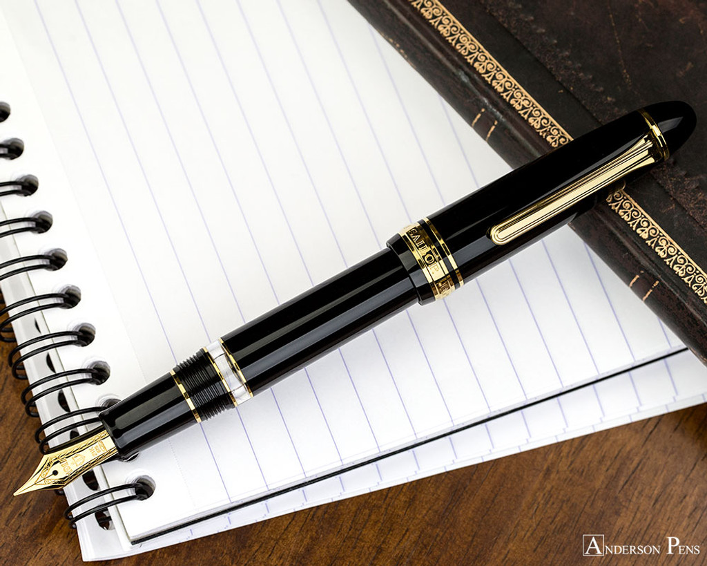 Sailor 1911 Realo Fountain Pen - Black with Gold Trim - Posted on Notebook