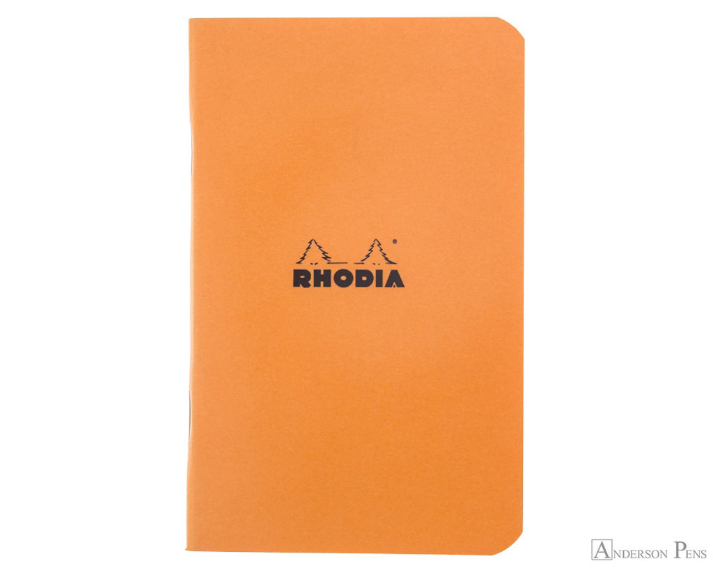 Rhodia Staplebound Notebook - 3 x 4.75, Graph - Orange