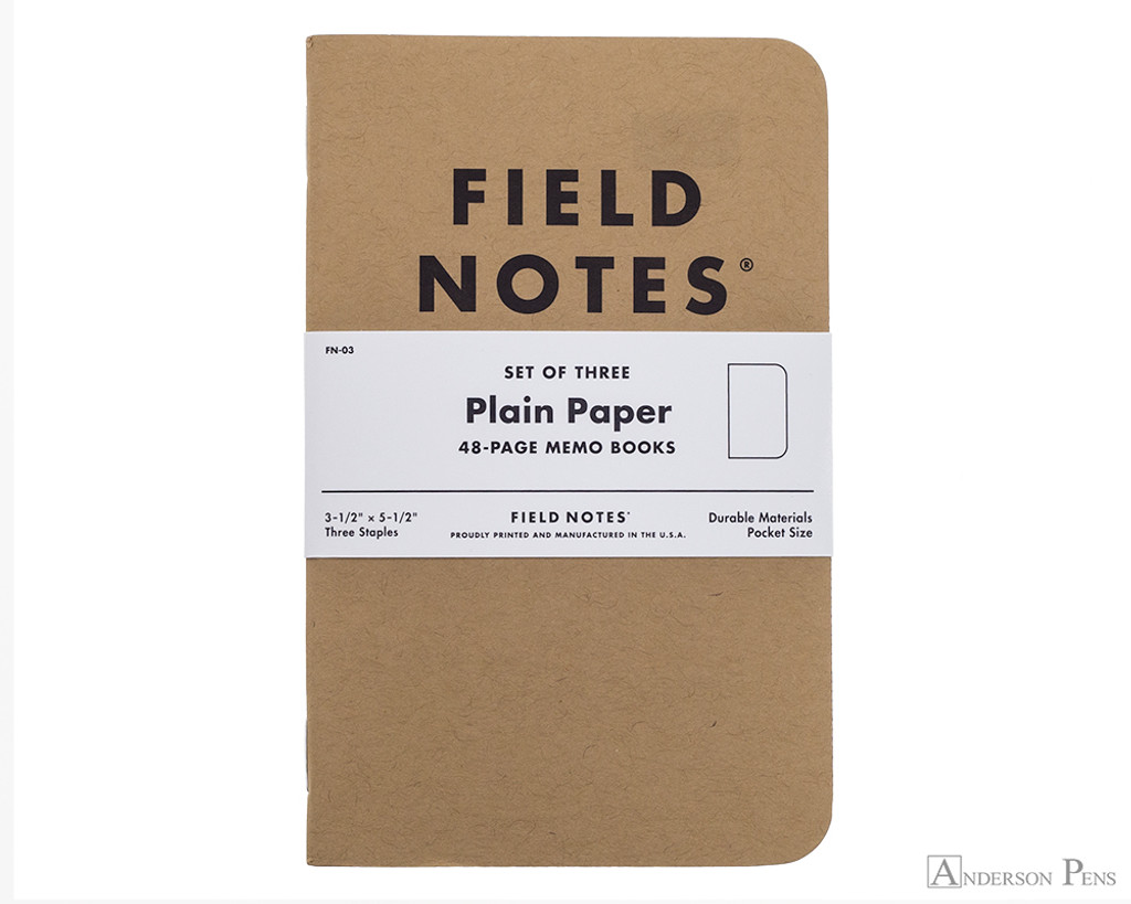 Field Notes Notebooks - Blank (3 Pack)