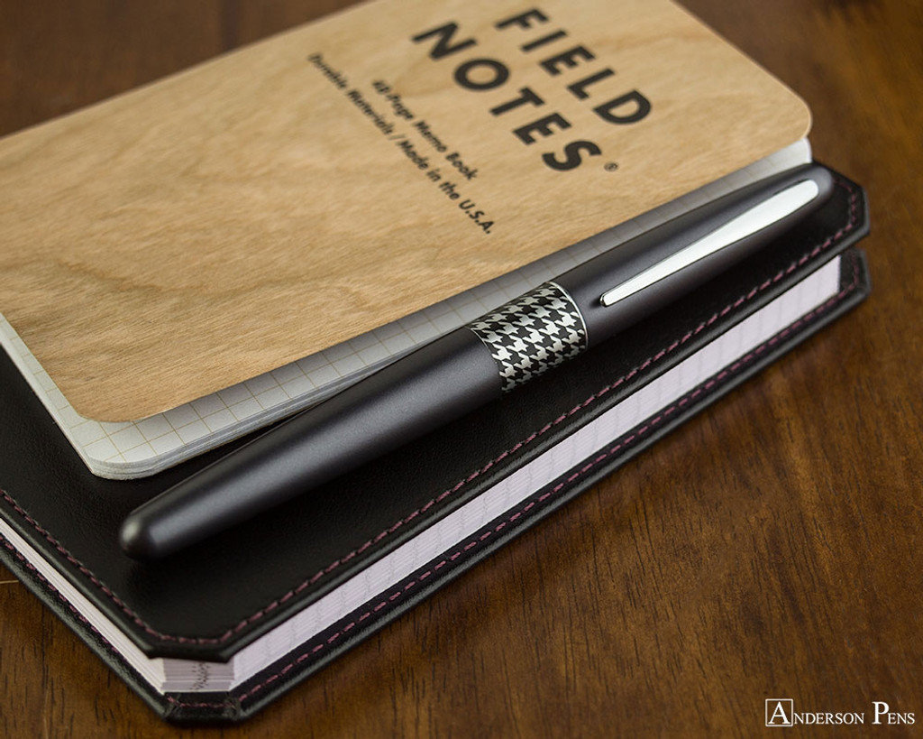 Pilot Metropolitan Fountain Pen - Retro Pop Gray - On Notebook