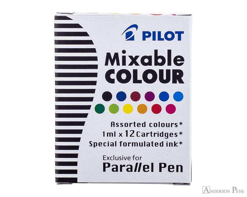 Pilot Parallel Mixable Colour Assorted Pack Ink Cartridges (12 Pack)
