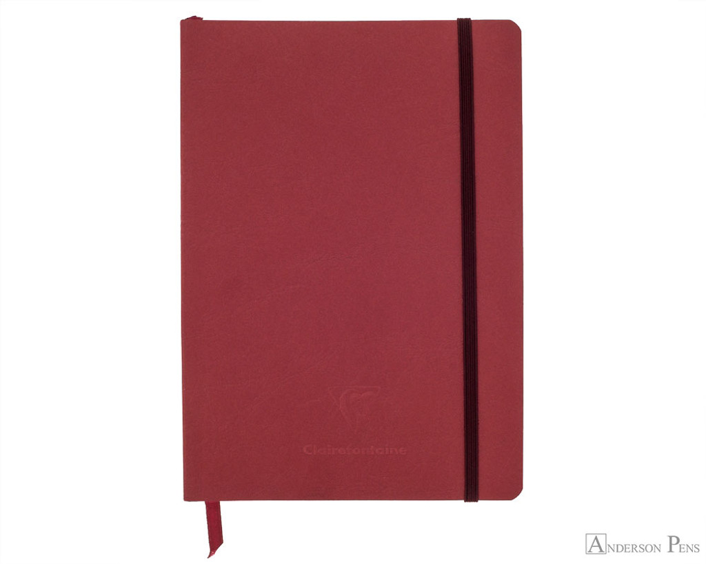 Clairefontaine My Essential Notebook - A5, Graph - Red