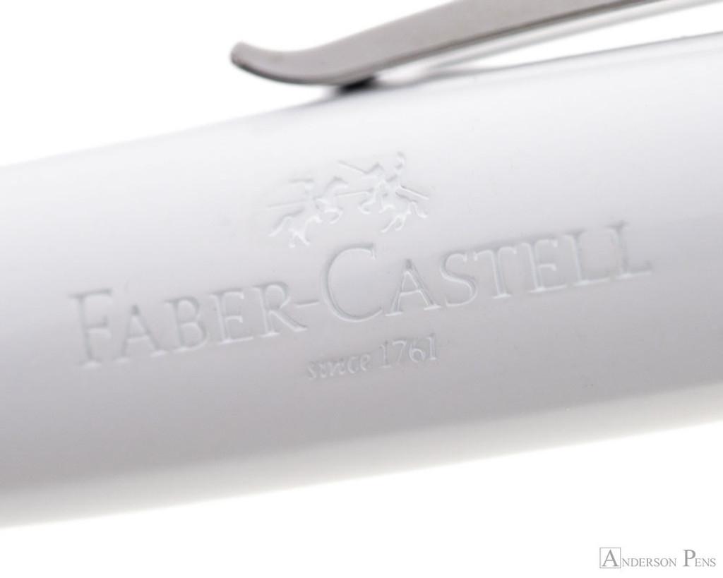 Faber-Castell Loom Ballpoint - Piano White - Imprint