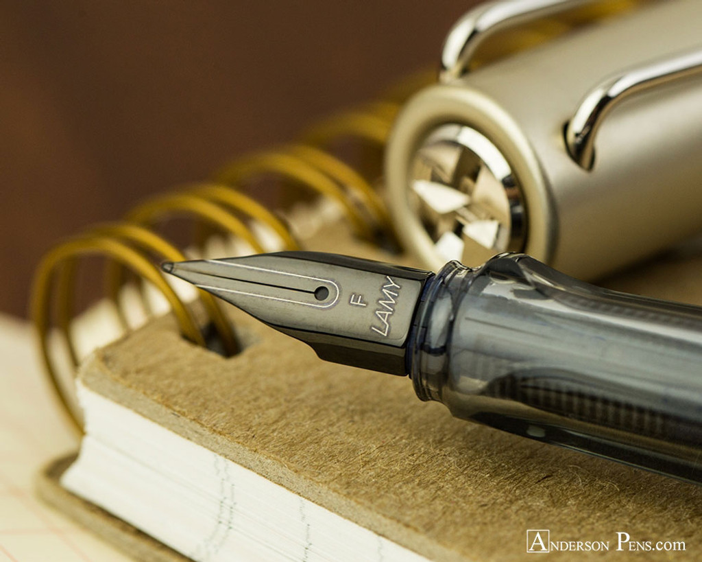 Lamy LX Fountain Pen - Palladium - On Notebook Nib