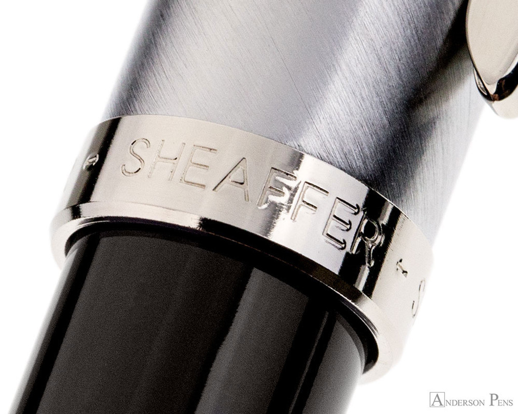 Sheaffer 100 Rollerball - Black with Brushed Chrome Cap