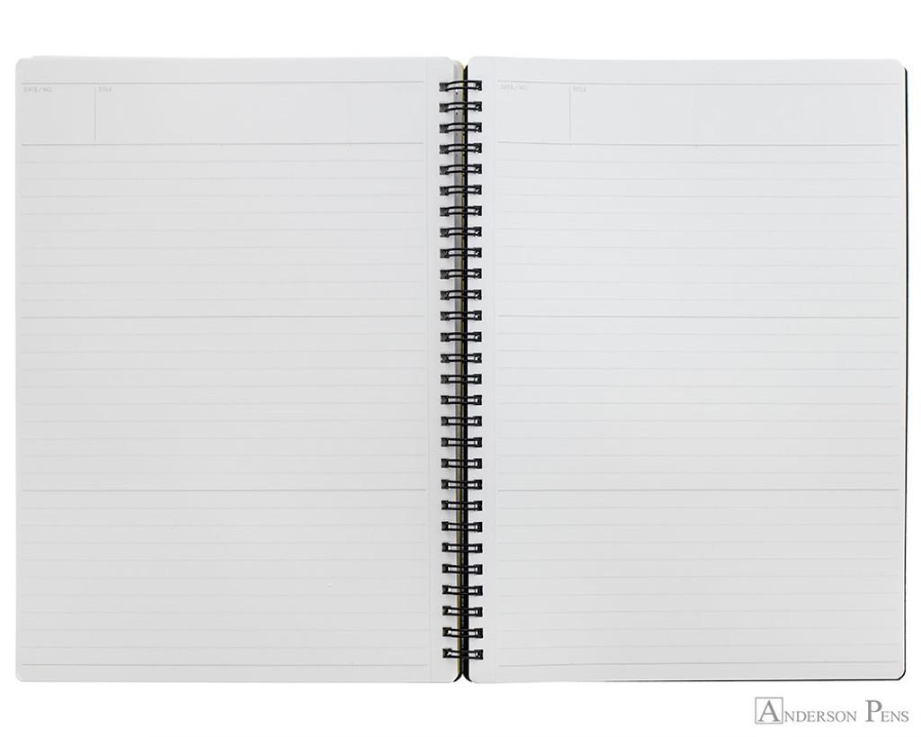 Maruman Mnemosyne N194A Notebook - B5, Lined - Black open