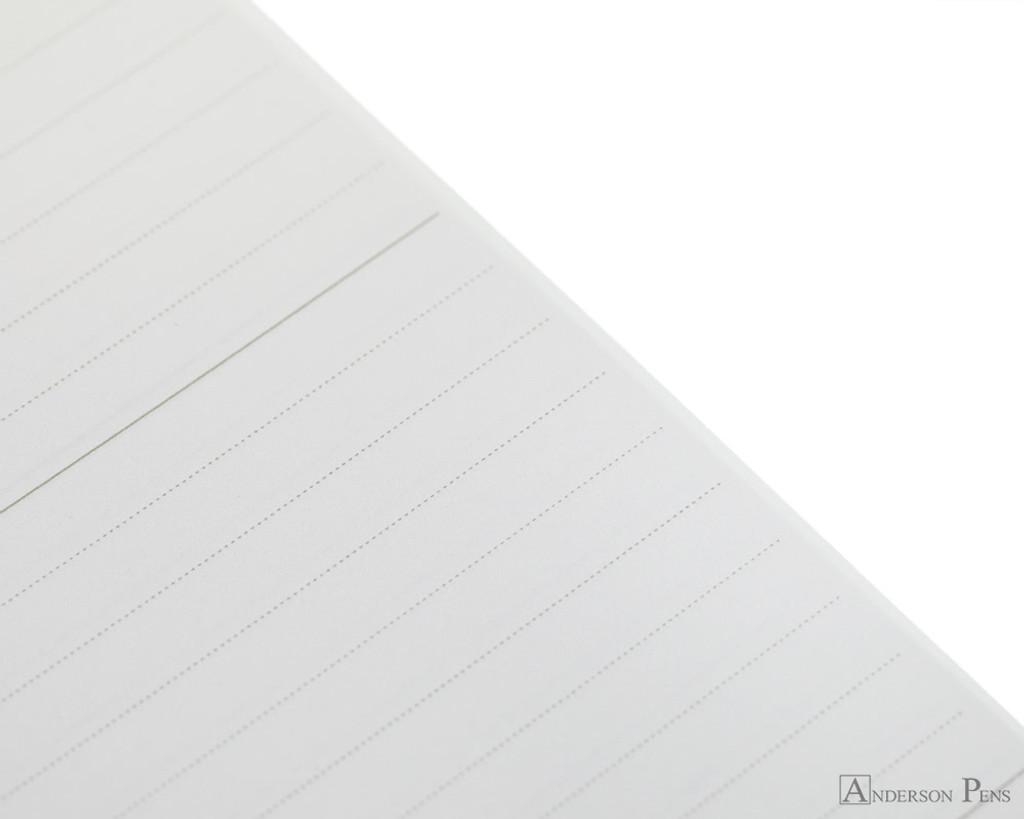 Maruman Mnemosyne N194A Notebook - B5, Lined - Black closeup